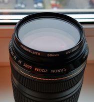 телевик Canon EF 75-300mm+линза
