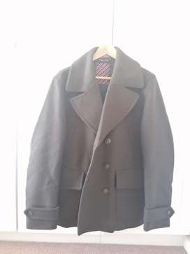 NEW Men's green double breasted pea coat
