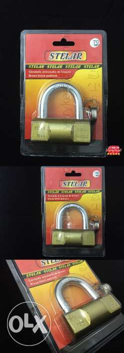 STELAR Heavy Duty Solid Brass Padlock 0