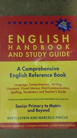 English handbook and study guide for sale