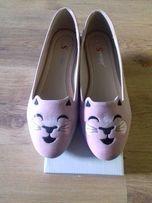 Nowe różowe baleriny koty kotki roz.39