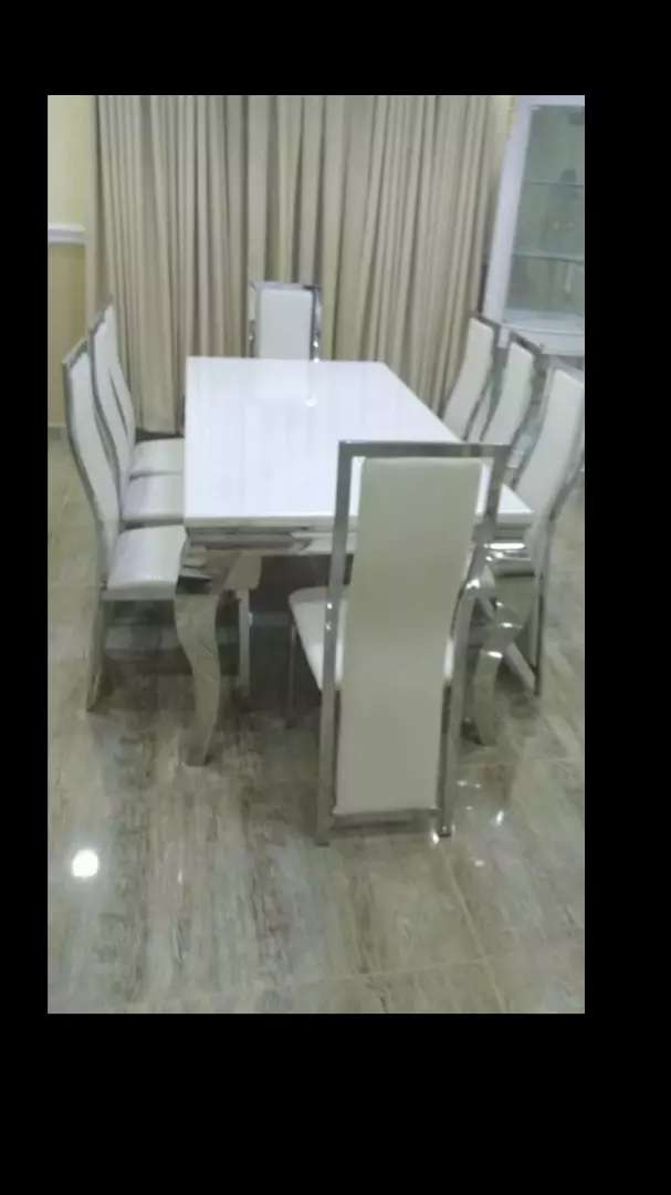 Your by six marble dining with six chairs 0