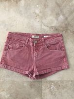 Jeansowe różowe spodenki szorty