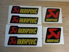Vinyl cut Akrapovic decals