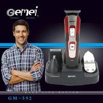 Аккумуляторная машинка для стрижки Gm-592 10 в 1 триммер стайлер 2018