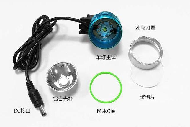 Вело фара USB 5 цвет CREE XM-L T6 LED 500Lm велосипед велофара фонарь Черкассы - изображение 8