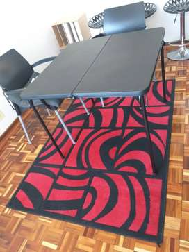 BOLD black and red rug