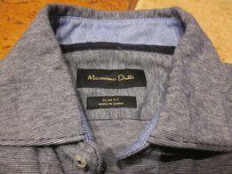 Massimo Dutti koszula męska młodzieżowa rozmiar S kolor szary melanż