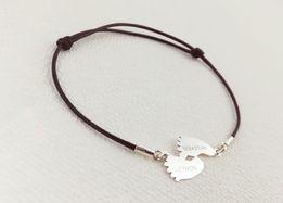 Biżuteria z grawerem Srebro 925 bransoletka naszyjnik zawieszka