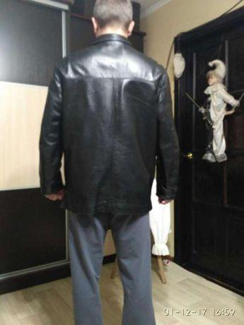 Чоловіча шкіряна куртка 52-го розміра. Львов - изображение 5