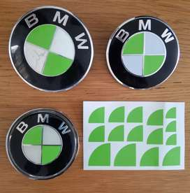 BMW badge overlay colour change stickers