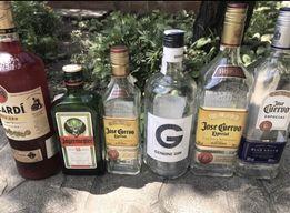 Пустые бутылки из элитного алкоголя на закрутке 0,5 0,7 1 литр