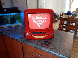 Rare Cars 2 Lighting McQueen TV/DVD player combo with remote control