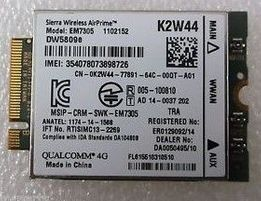 4G 3G LTE WWAN Dell Fujitsu Panasonic EM7305 Sierra Wireless LTE WWA
