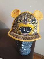 Czapka z daszkiem czapka z uszami niedźwiedź goryl