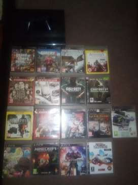 Ps3 500GB, 17 games, 1 controller