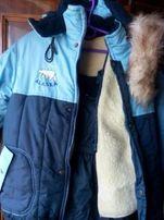 Зимний костюм с комбинезоном супер теплый, рост116 см.