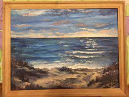 Пейзаж маслом море (марина)