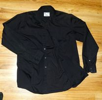 Koszula Czarna Casual L - XL Nowa Elegancka