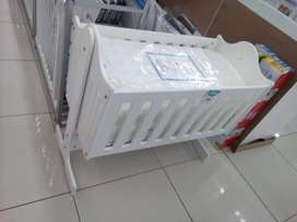 Baby Cot Bed white