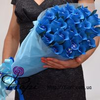 Оригинальный подарок. Букет из конфет в синем цвете. Букет на 8 марта