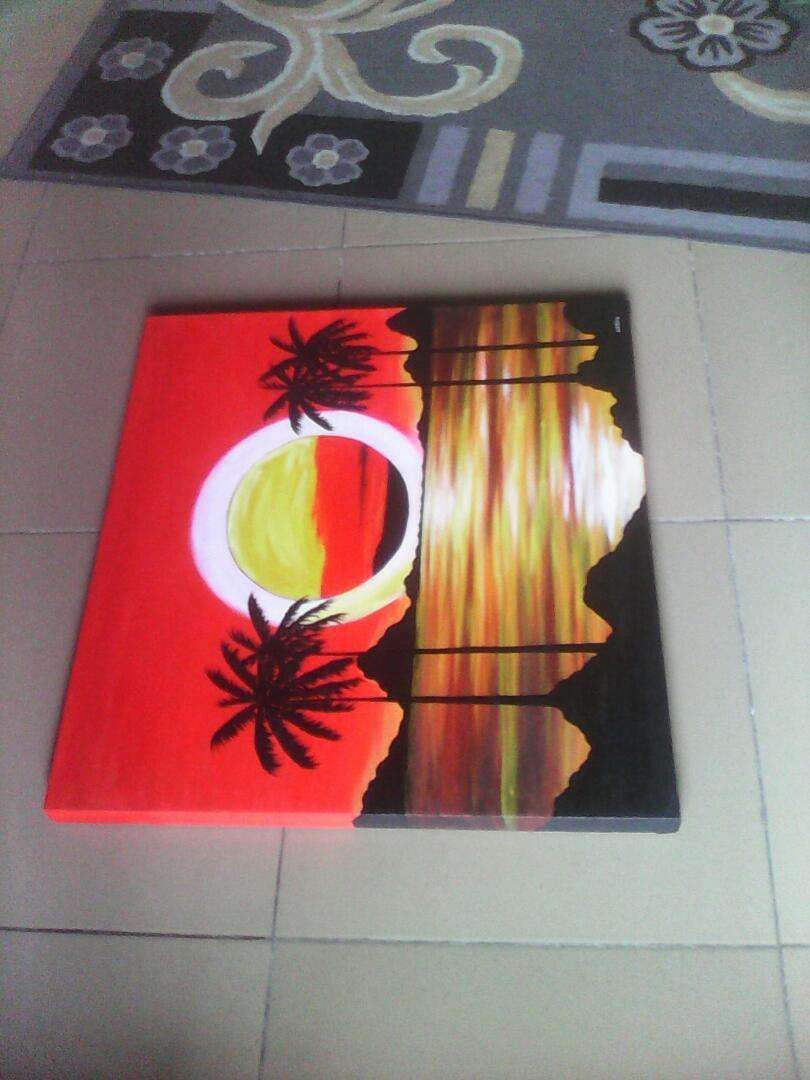 Sunset hand painted artworks 0