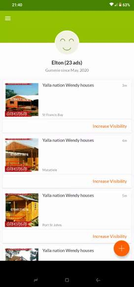 Bkf Wendy houses for sale