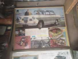 Wolseley, framed original sales  brosjure