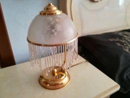 Настольная лампа покрытая золотом с камнями Сваровского.