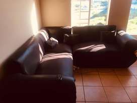 Black L shape Couch 3 seater