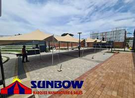 Hire of tents and toilets: outdoor toilets sunbow toilets