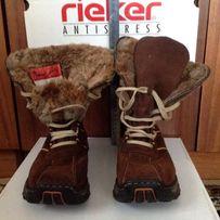 Женские высокие зимние ботинки Риккер 37 размер