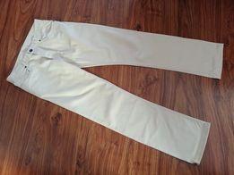 Spodnie miękki jeans INEXTENSO rozm. W42 L86 kremowe beżowe jak NOWE