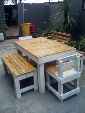 Brand new table and benches