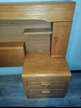 Solid Oak Bedroom Suite plus Mattress & Base