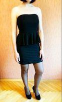 Черное платье Mim c баской