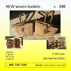 NEW woven baskets