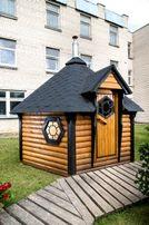 SAUNA Domek saunowy 9,2 m2 z przebieralnią i piecem Promocja !!