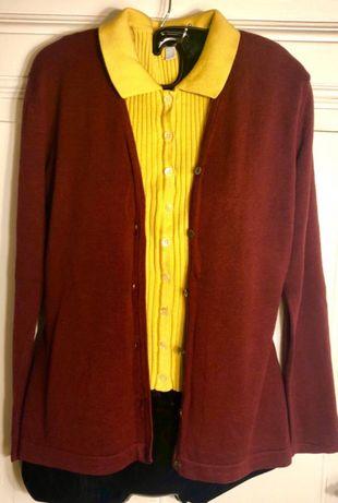 Bluzka sweter bez rękawów musztardowy żółty M/38 guziki Bydgoszcz - image 8