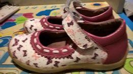 туфли кожаные Little Deer для девочки стелька 18см.