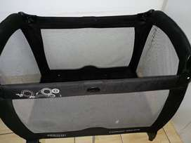 Cot with accessories  , pram and 2 in 1 bag