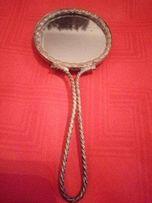 детское старинное зеркало Франция латунь эмали