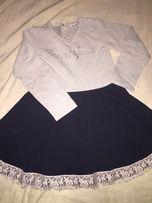 Тёплое школьное платье , школьная форма , повседневное платье , школа