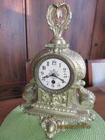 Żeliwny zegar kominkowy-piękne wykonanie