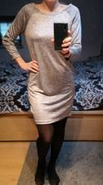 Sukienka srebrna Reserved roz S NOWA