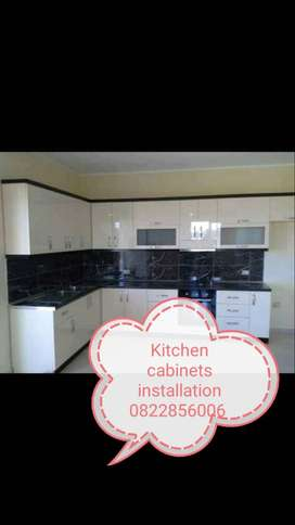 Kitchen cabinets, ceiling and wardrobes installation
