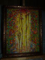 "Картина, акрил , Art Decor 35 х 45 cm "" Романтические чувства """