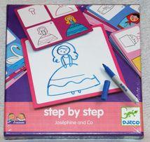 Zestaw do nauki rysowania krok po kroku Josephin i spółka Djeco 4+