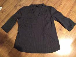 Czarna-grafitowa bluzka H&M BB elastyczna bluzka koszulowa rozmiar 50