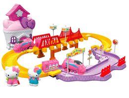 Hello Kitti железная дорога, с мебелью и паравозом Хелло Китти
